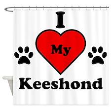 I Heart My Keeshond Shower Curtain