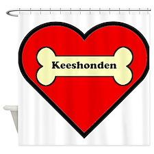 Keeshonden Heart Shower Curtain