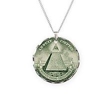 Unique American Necklace Circle Charm