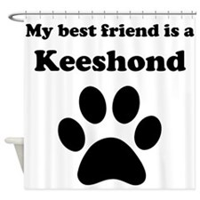 Keeshond Best Friend Shower Curtain