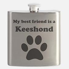 Keeshond Best Friend Flask
