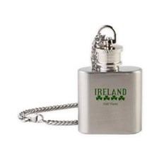 Lucky Irish Shamrocks Flask Necklace
