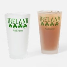 Lucky Irish Shamrocks Drinking Glass