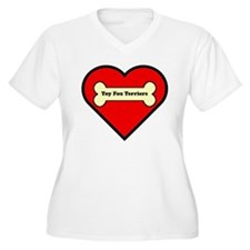 Toy Fox Terriers Heart Plus Size T-Shirt
