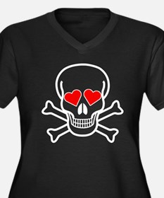 Skull And Hearts Plus Size T-Shirt