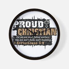 ProudChristian copy Wall Clock