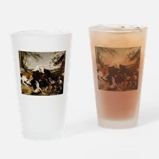 Snyders Hounds bringing down a Boar Drinking Glass