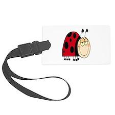 cute goofy cartoon grinning little ladybug Luggage Tag