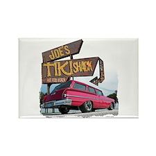 Joe's Tiki Wagon Rectangle Magnet