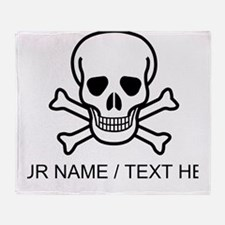 Custom Skull And Crossbones Throw Blanket