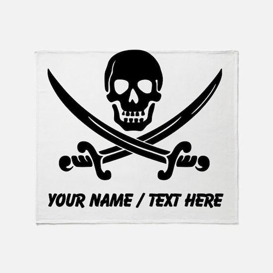 Custom Pirate Throw Blanket