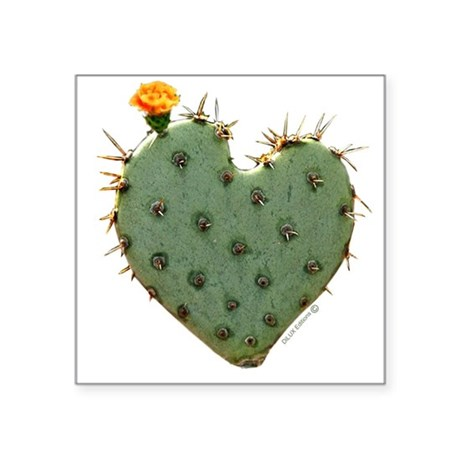Heart shaped Desert Flower Oval Sticker