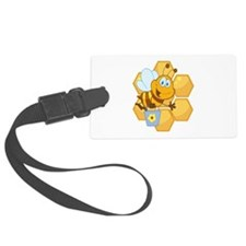 cute happy honey bee and honeycomb Luggage Tag
