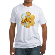 cute happy honey bee and honeycomb Shirt
