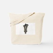 Mandolin Headstock Plaid Tote Bag