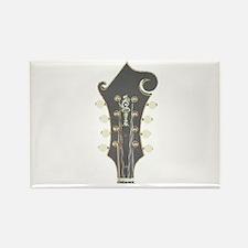 Mandolin Headstock Plaid Rectangle Magnet