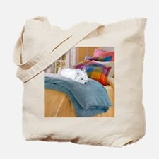 Westie Napping Tote Bag