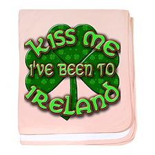 KISS ME I've Been to IRELAND baby blanket