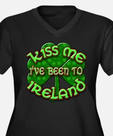 KISS ME I've Been to IRELAND Women's Plus Size V-N
