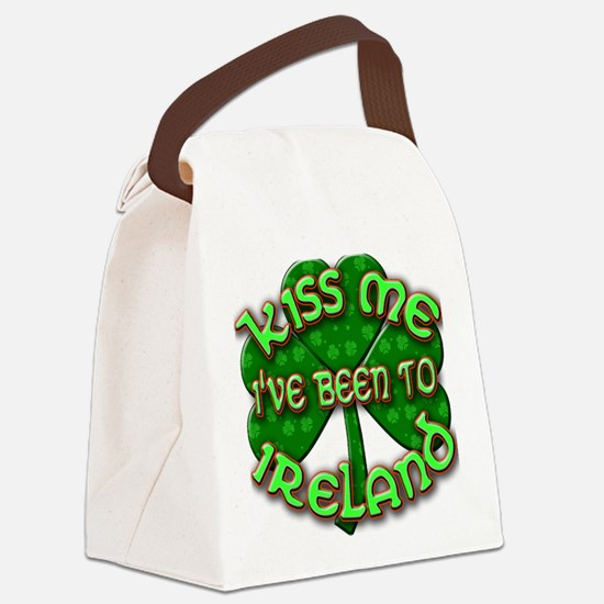 KISS ME I've Been to IRELAND Canvas Lunch Bag