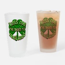 KISS ME I've Been to IRELAND Drinking Glass