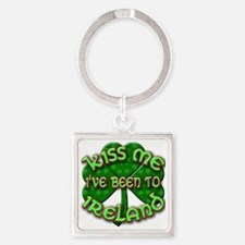 KISS ME I've Been to IRELAND Square Keychain