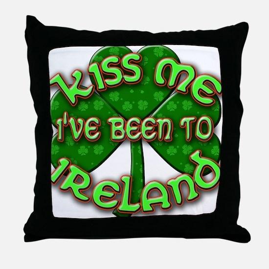 KISS ME I've Been to IRELAND Throw Pillow