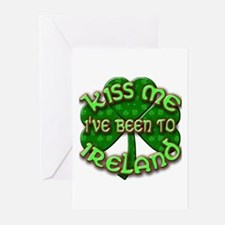KISS ME I've Been to IRELAND Greeting Cards (Pk of