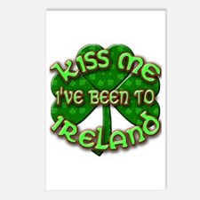 KISS ME I've Been to IRELAND Postcards (Package of