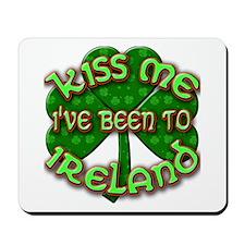 KISS ME I've Been to IRELAND Mousepad