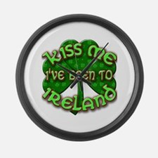 KISS ME I've Been to IRELAND Large Wall Clock