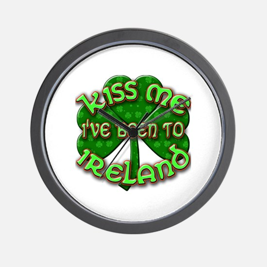 KISS ME I've Been to IRELAND Wall Clock
