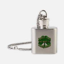 KISS ME I've Been to IRELAND Flask Necklace