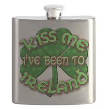KISS ME I've Been to IRELAND Flask