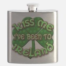 KISS ME I've Been to IRELAND Flask