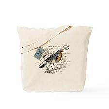 Blue Bird Carte Postale Tote Bag