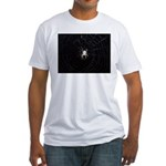 Spooky Spider Fitted T-Shirt