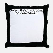 Cute Omg Throw Pillow