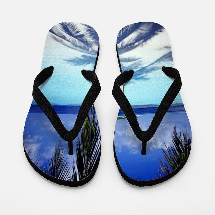 Paradise Tropical Island Flip Flops