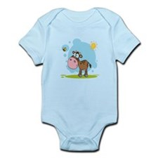 cute little cow and bumble bee in the sun Infant B