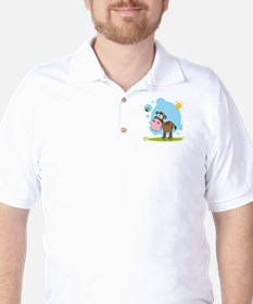 cute little cow and bumble bee in the sun T-Shirt