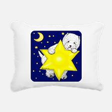 Westie Star Rectangular Canvas Pillow
