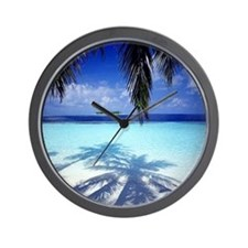 Paradise Tropical Island Wall Clock