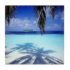 Paradise Tropical Island Tile Coaster