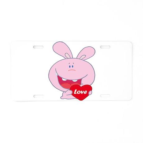 cute little love bunny cartoon character Aluminum
