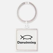 Darwinning Square Keychain