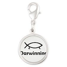 Darwinning Silver Round Charm