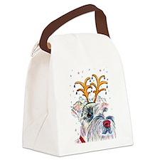 Holiday Schnauzer Canvas Lunch Bag