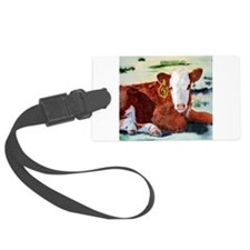 Hereford Calf Luggage Tag
