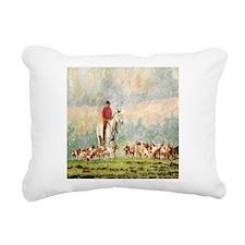 Foxhunt Rectangular Canvas Pillow